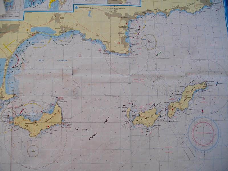 Carte Marine Presqu'ile de Giens Carte Marine Des îles D'hyères